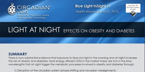 Light at Night: Effects on Obesity and Diabetes