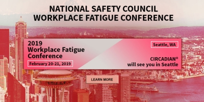 CIRCADIAN will be attending the 2019 Workplace Fatigue Conference February 20-21 in Seattle, WA.